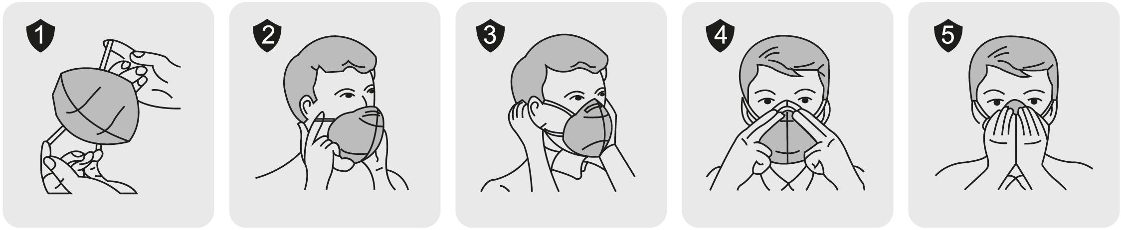 Instrucciones para colocar una mascarilla Galmask FFP3